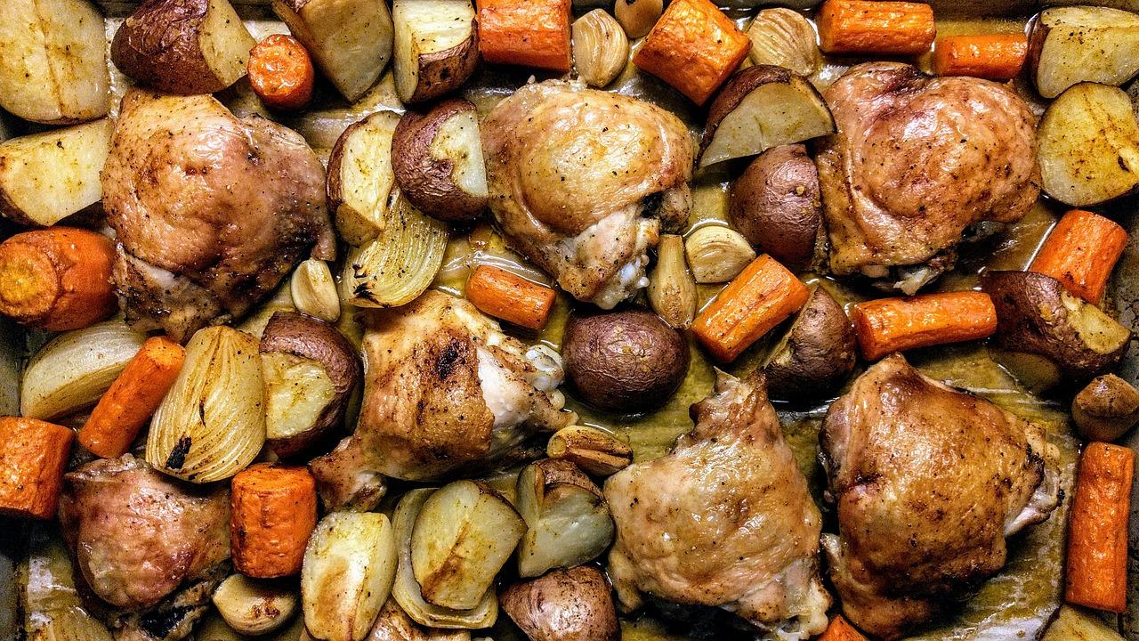 Receta de Pollo al Horno en Salsa de Champiñones