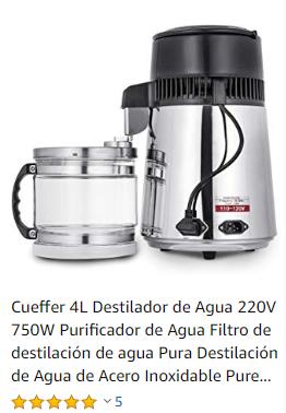 Dispensadores de agua con filtro agua destilada