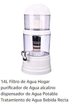 Dispensadores de agua con filtro alcalino