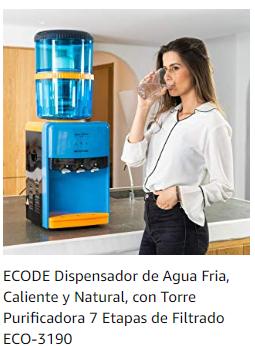 Dispensadores de agua con filtro